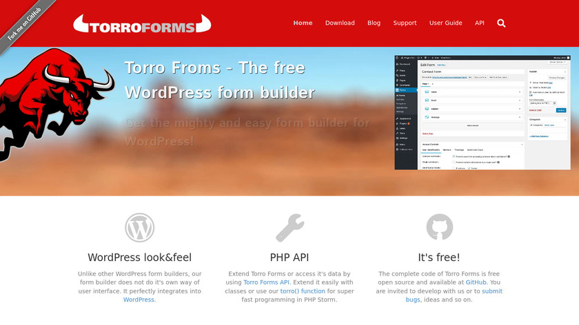 Torro Forms Landing Page