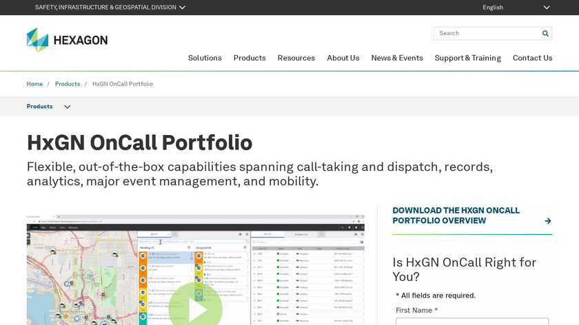 HxGN OnCall Records Landing Page