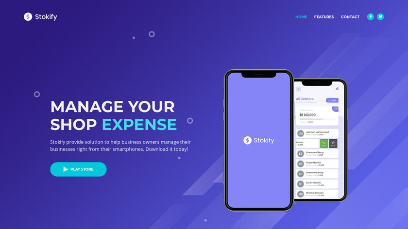 Stokify Landing Page