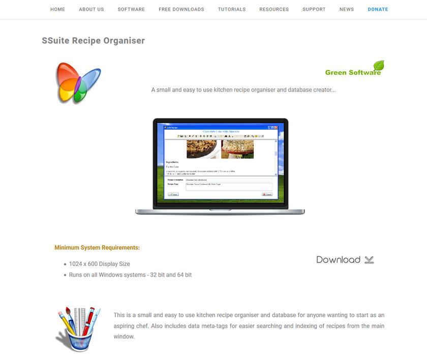 SSuite Recipe Organiser Pricing