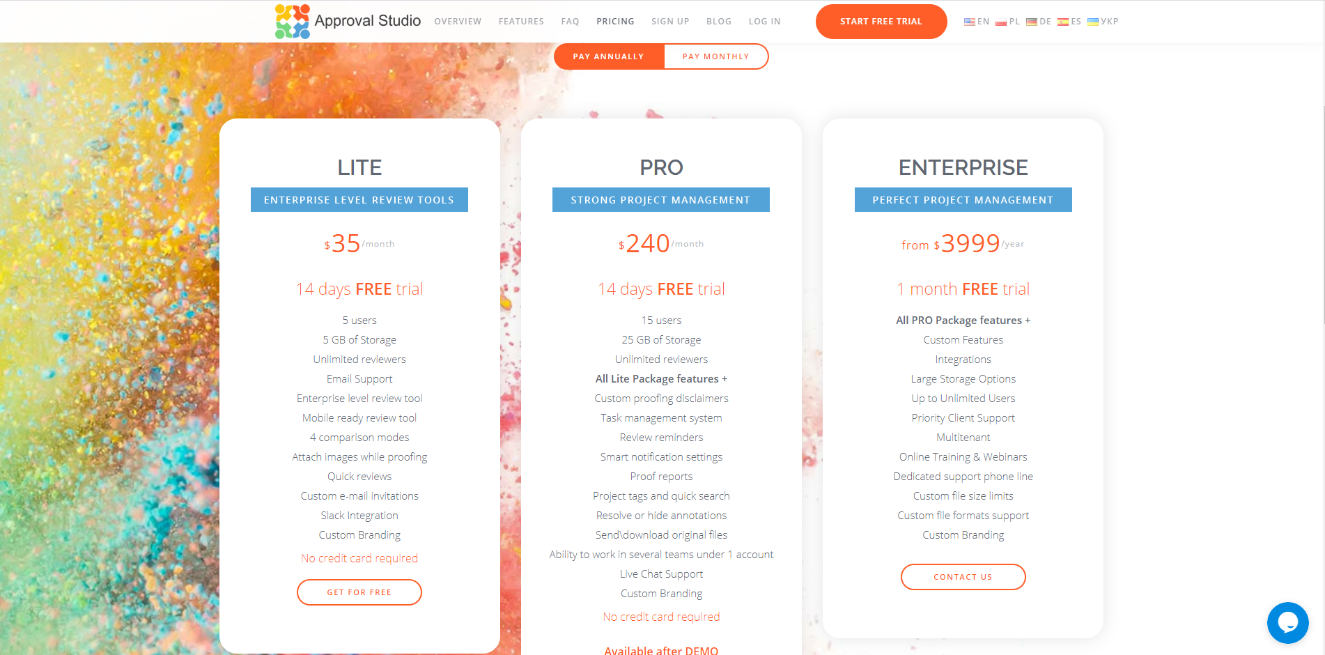 Approval Studio Pricing as of 2020-05-28