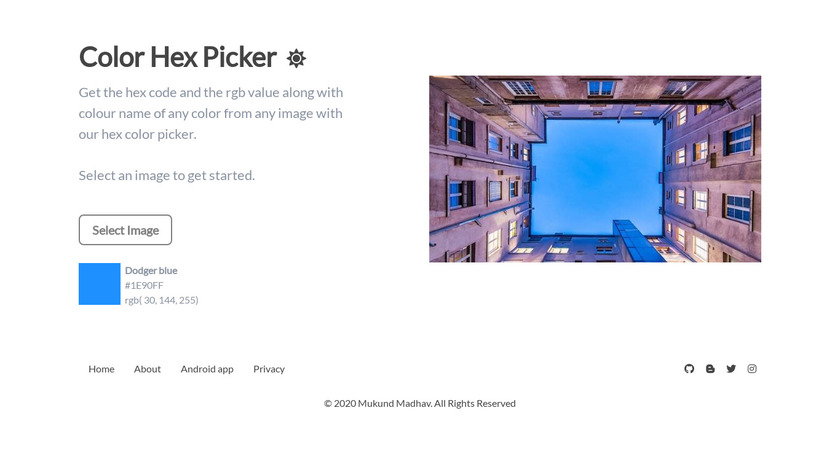 Color Hex Picker Landing Page