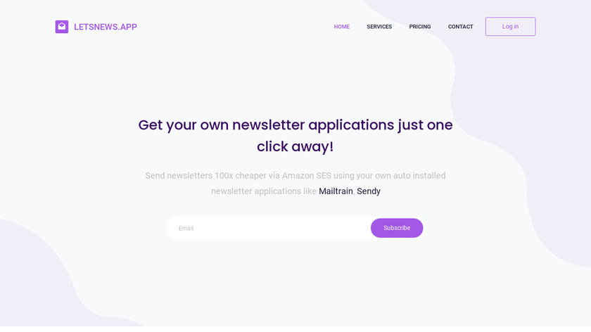 LetsNews.app Landing Page