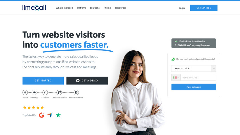 LimeCall Landing Page