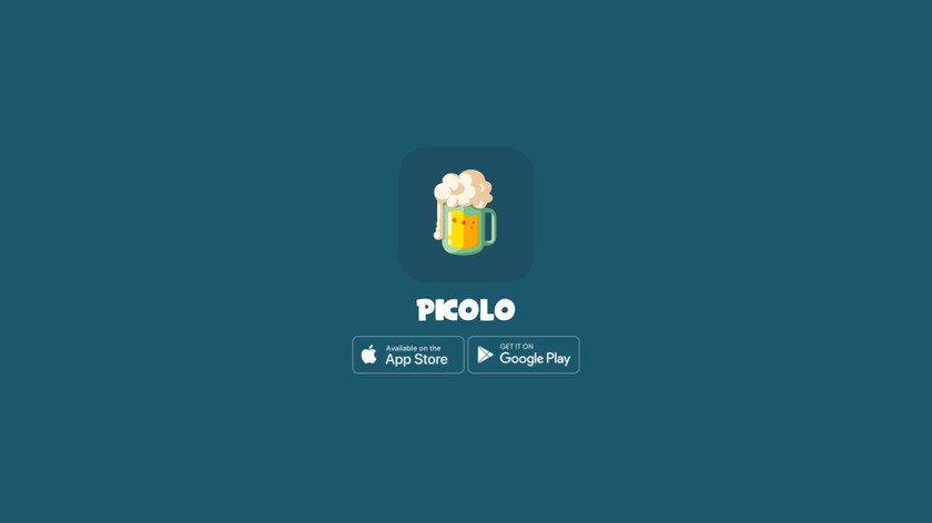 Picolo Drinking Game Landing Page