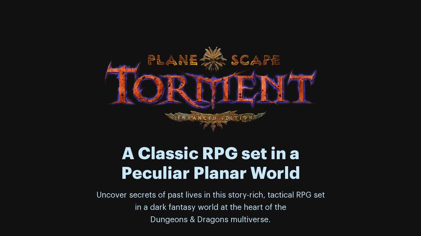 Planescape: Torment Landing Page