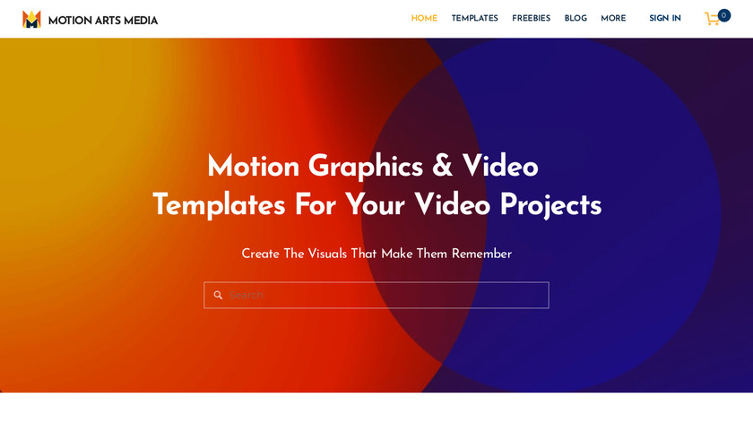 Motion Arts Media Landing Page
