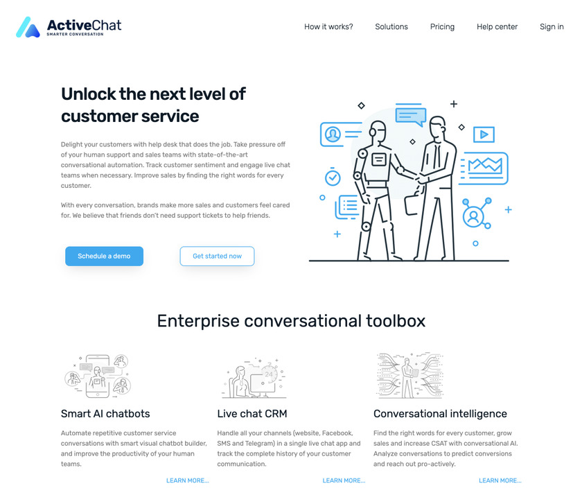 ActiveChat.ai Landing Page