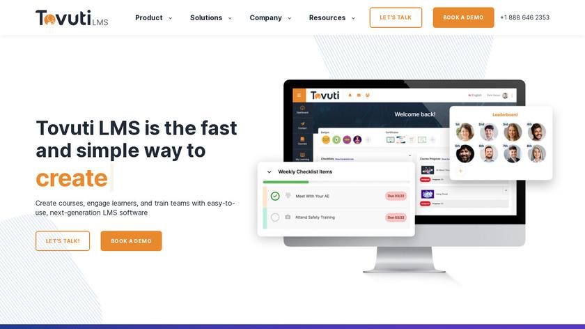 Tovuti LMS Landing Page