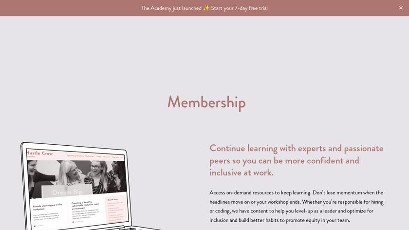 Hustle Crew Membership Landing Page