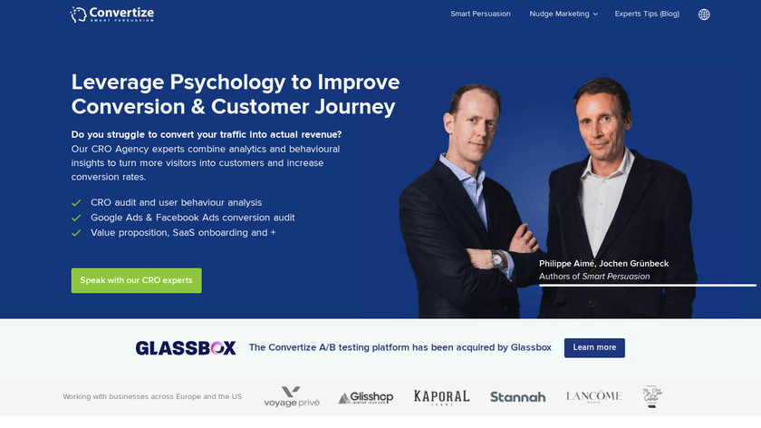 Convertize Landing Page