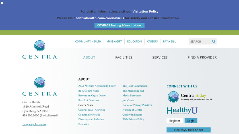 HealthU + Landing Page