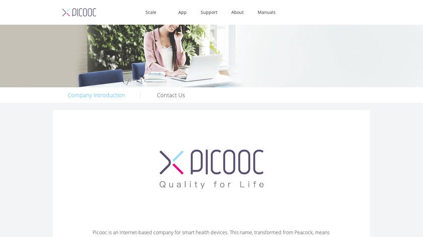 PICOOC Landing Page