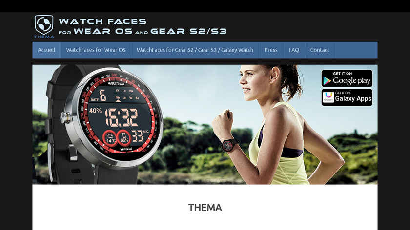 Feisar Watch Face Landing Page