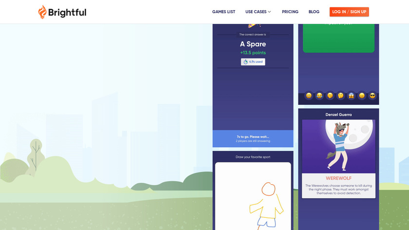 Brightful Meeting Games Landing Page