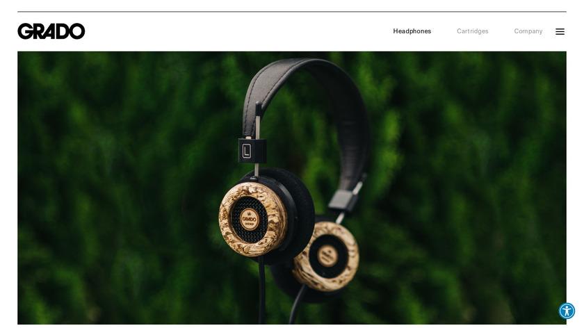 Grado Hemp Headphones Landing Page