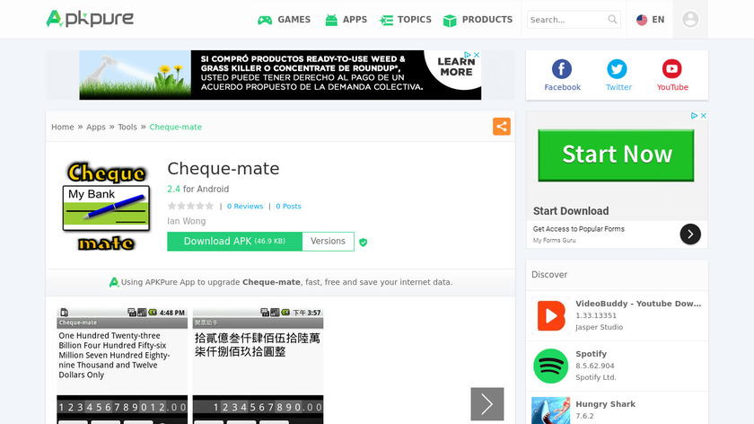 Cheque-mate Landing Page