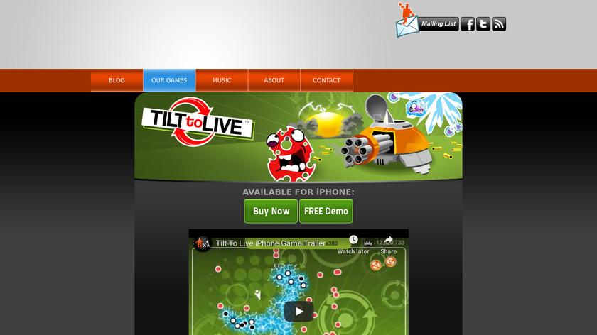 Tilt to Live Landing Page