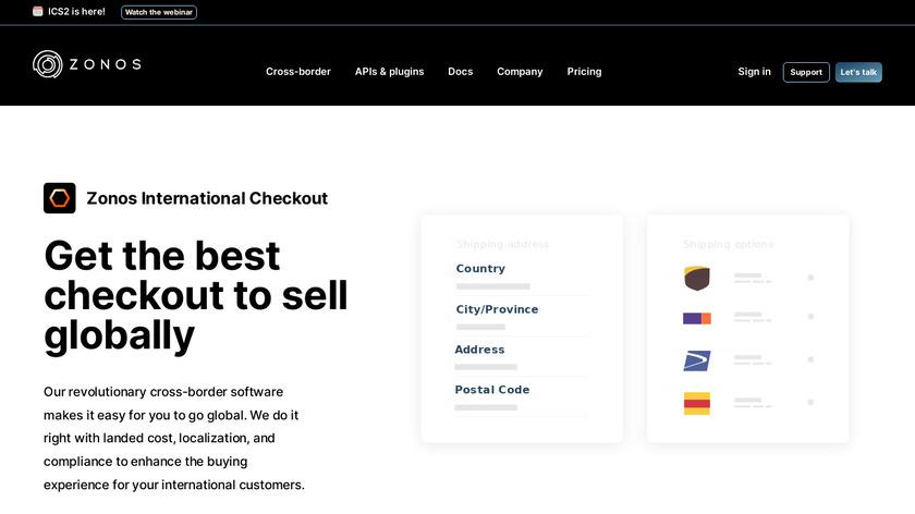 International Checkout Landing Page