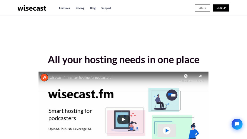 Wisecast Landing Page