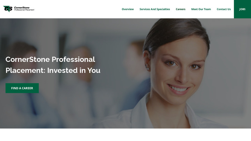 Cornerstone Professional Services Landing Page