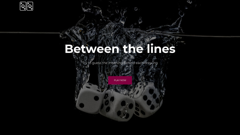 Between the lines Landing Page
