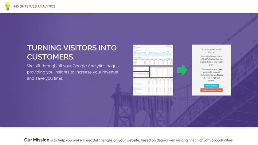 Insights Analytics Landing Page
