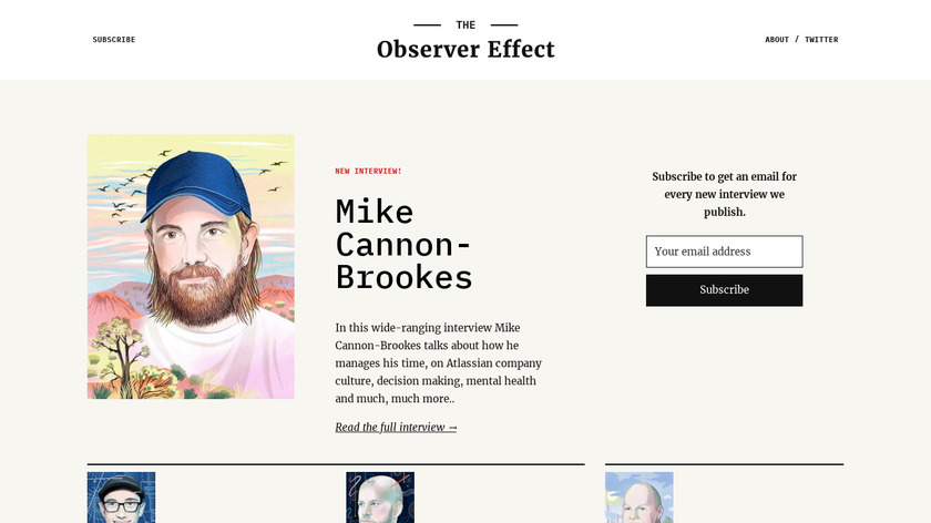 The Observer Effect Landing Page