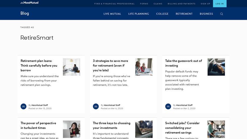 MassMutual RetireSmart Landing Page