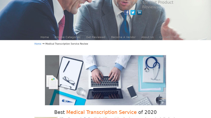 Athreon Medical Transcription Services Landing Page
