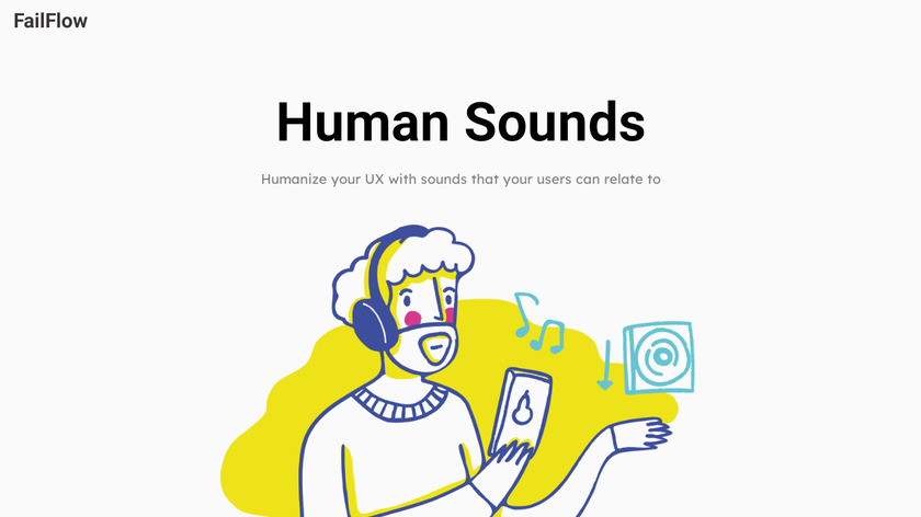 Human UX Sounds Landing Page
