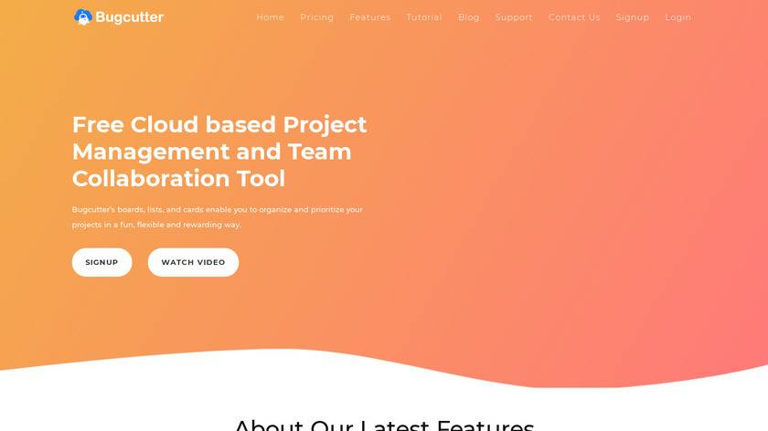 Bugcutter Landing Page