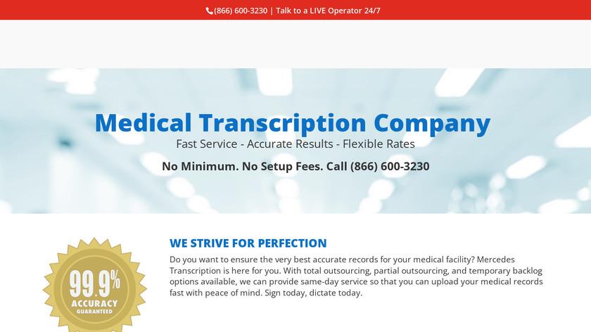 Mercedes Transcription Landing Page