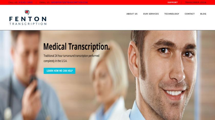 Fenton Transcription Landing Page