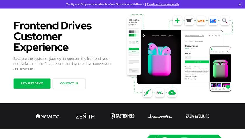 Vue Storefront Landing Page
