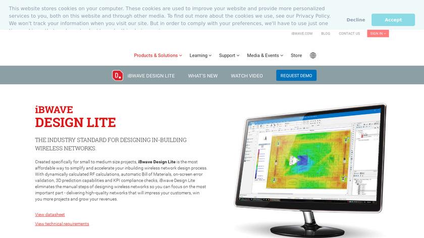 iBwave Design Landing Page