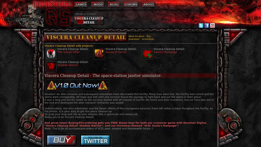 Viscera Cleanup Detail Landing Page