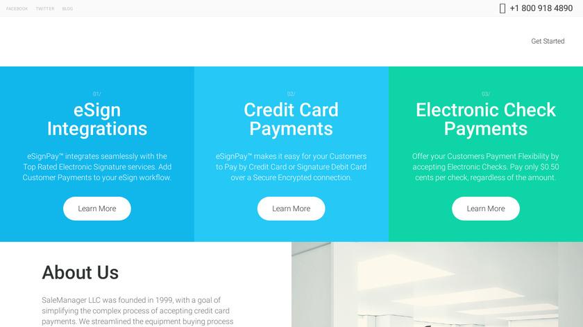 eSignPay Landing Page