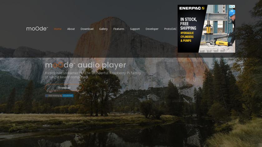 moOde audio player Landing Page