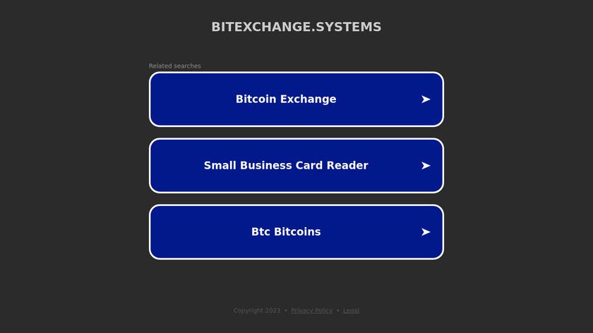 BitExchange Landing Page