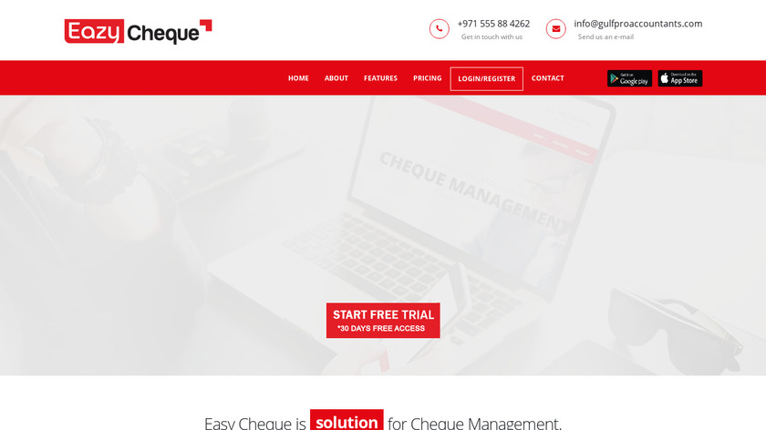 Eazycheque Landing Page