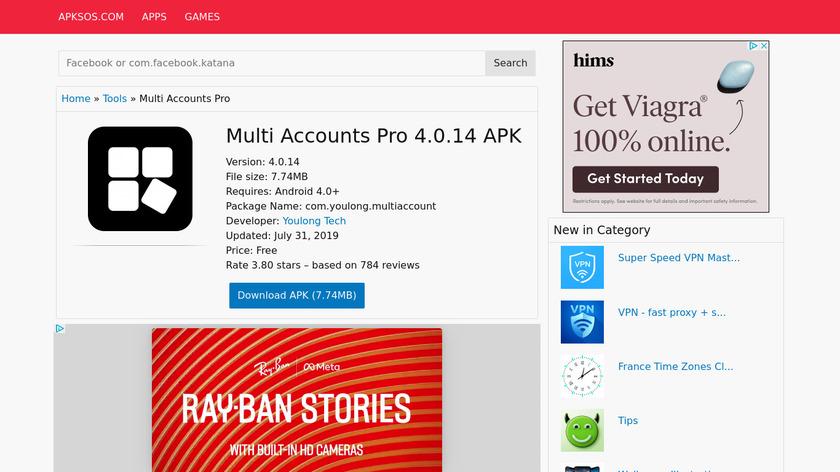 Multi Accounts Pro Landing Page