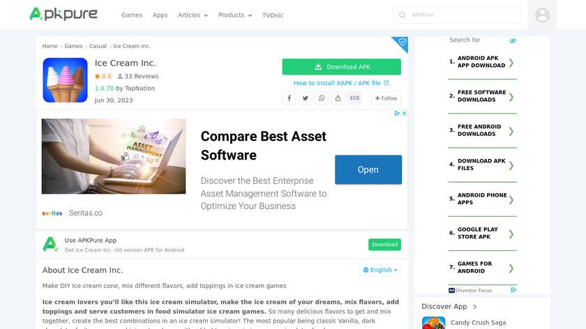 Ice Cream Inc. Landing Page