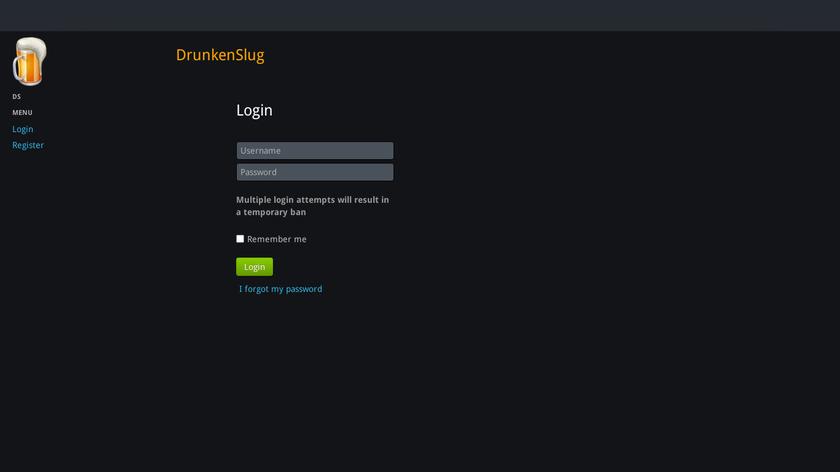 drunkenslug.com Landing Page
