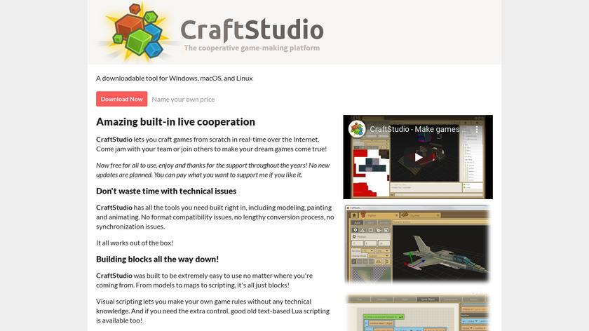 CraftStudio Landing Page