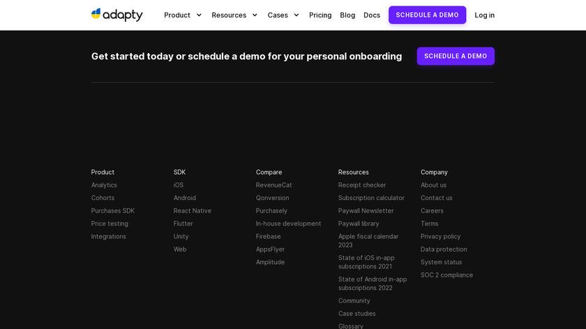 Adapty Landing Page