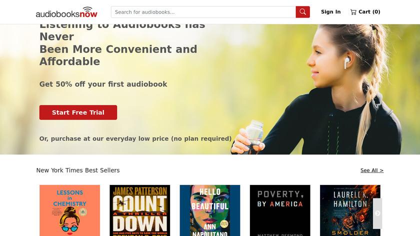 Audiobooks Now Audio Books Landing Page