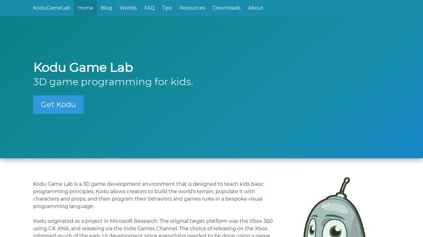 Kodu Game Lab Landing Page