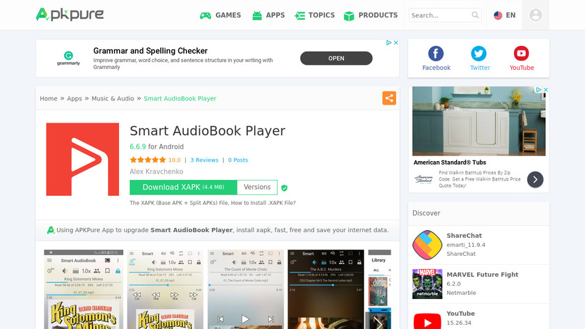 Smart AudioBook Player Landing Page
