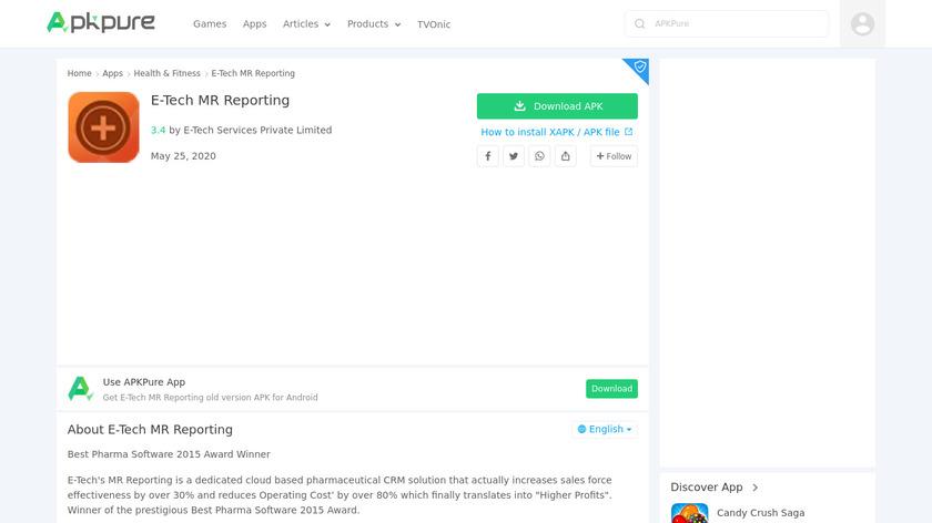 E-Tech MR Reporting Landing Page
